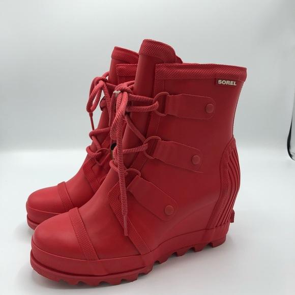 8280ab258e57 NWOB Sorel Joan Rain Wedge Boots